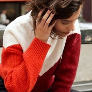 & Other Stories color block sweater jumper